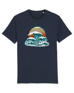 """Mørkeblå t-skjorte med """"save our oceans"""" i 100 % økologisk bomull » Etiske & økologiske klær » Grønt Skift"""