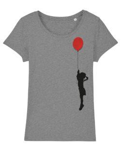 Grå t-skjorte med ballong motiv i 100 % økologisk bomull » Etiske & økologiske klær » Grønt Skift