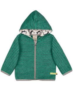 Grønn fleecejakke med hette - Ull/bomull (GOTS) » Etiske & økologiske klær » Grønt Skift
