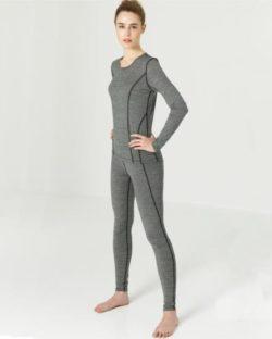 Grå ullundertøy stilongs dame i 96% økologisk ull - Etiske & økologiske klær » Grønt Skift