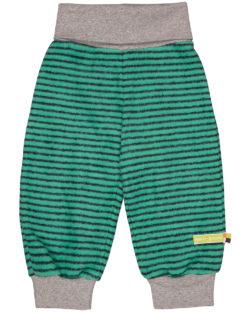 Grønn stripete joggebukse - økologisk bomull » Etiske & økologiske klær » Grønt Skift