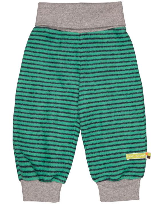 4061-ja-rt grønn stripete fleece bukse