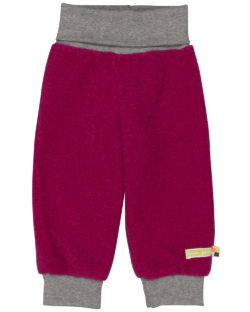 Mørk rosa bukse i ullfleece - økologisk ull/bomull » Etiske & økologiske klær » Grønt Skift