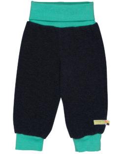 Mørk blå bukse i ullfleece - økologisk ull/bomull » Etiske & økologiske klær » Grønt Skift