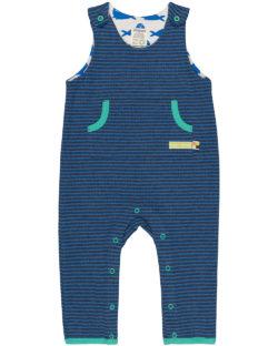 Blå stripete sparkebukse - økologisk bomull » Etiske & økologiske klær » Grønt Skift