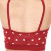 Rød BH med stjerner - økologisk bomull » Etiske & økologiske klær » Grønt Skift
