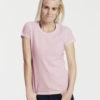 Slightly fitted lyserosa dame t-skjorte - 100 % økologisk bomull » Etiske & økologiske klær » Grønt Skift