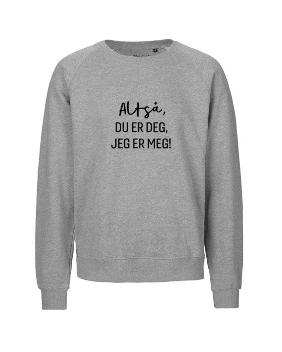 du er deg Unisex genser