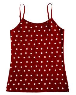 Rød singlet med stjerner - økologisk bomull » Etiske & økologiske klær » Grønt Skift