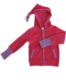 Rød Nicky hettejakke i 100 % økologisk bomull » Etiske & økologiske klær » Grønt Skift