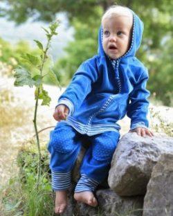 Blå Nicky hettejakke i 100 % økologisk bomull » Etiske & økologiske klær » Grønt Skift