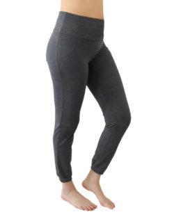 Mørk gråmelert yogabukse - økologisk bomull » Etiske & økologiske klær » Grønt Skift
