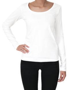 Hvit trøye med rund hals - økologisk bomull » Etiske & økologiske klær » Grønt Skift