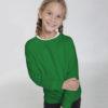 Grønn ensfarget genser til barn