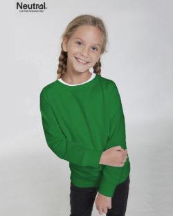 Grønn ensfarget genser - 100 % økologisk bomull » Etiske & økologiske klær » Grønt Skift