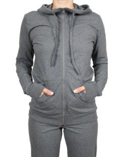 Mørk gråmelert hettejakke - økologisk bomull » Etiske & økologiske klær » Grønt Skift
