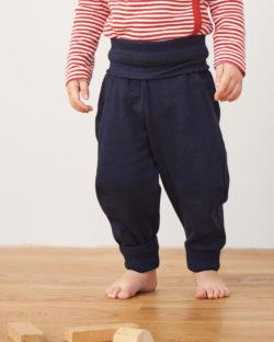 Mørkeblå bukse i 100% økologisk bomull » Etiske & økologiske klær » Grønt Skift