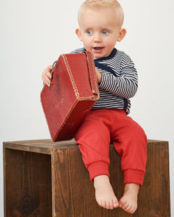 Rød bukse i 100% økologisk bomull » Etiske & økologiske klær » Grønt Skift