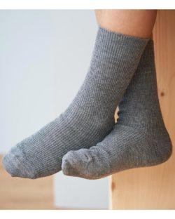 Grå sokker i økologisk ull, økologisk bomull og elastan » Etiske & økologiske klær » Grønt Skift