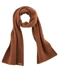 Rustbrunt unisex skjerf - økologisk bommull og økologisk ull » Etiske & økologiske klær » Grønt Skift