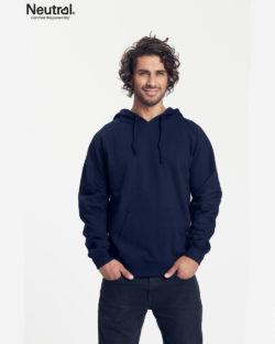Navy hettegenser - 100 % økologisk bomull » Etiske & økologiske klær » Grønt Skift