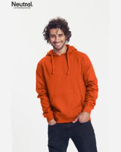 Oransje hettegenser - 100 % økologisk bomull » Etiske & økologiske klær » Grønt Skift