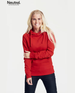 Rød hettegenser - 100 % økologisk bomull » Etiske & økologiske klær » Grønt Skift