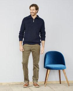 Mørkeblå genser i 100% økologisk bomull » Etiske & økologiske klær » Grønt Skift