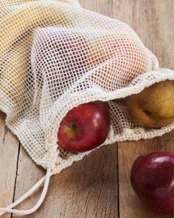 2 pack nettingposer til frukt og grønt i 100 % økologisk bomull » Etiske & økologiske klær » Grønt Skift