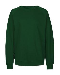 Mørkegrønn unisex collegegenser - 100 % økologisk bomull » Etiske & økologiske klær » Grønt Skift
