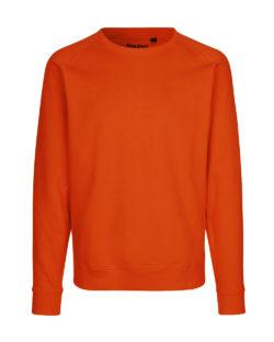 Oransje unisex collegegenser - 100 % økologisk bomull » Etiske & økologiske klær » Grønt Skift