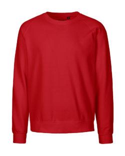 Rød unisex collegegenser - 100 % økologisk bomull » Etiske & økologiske klær » Grønt Skift