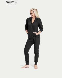 Svart unisex jumpsuit - 100 % økologisk bomull » Etiske & økologiske klær » Grønt Skift