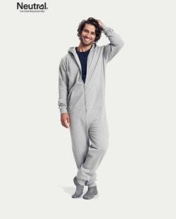 Grå unisex jumpsuit - 100 % økologisk bomull » Etiske & økologiske klær » Grønt Skift