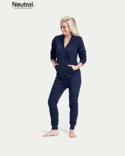 Mørkeblå unisex jumpsuit - 100 % økologisk bomull » Etiske & økologiske klær » Grønt Skift