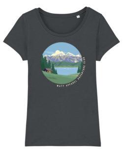 Grå dame t-skjorte med fjellmotiv i 100 % økologisk bomull » Etiske & økologiske klær » Grønt Skift
