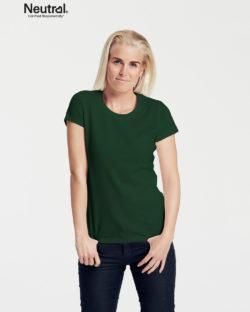 Flaskegrønn slightly fitted t-skjorte - 100 % økologisk bomull » Etiske & økologiske klær » Grønt Skift