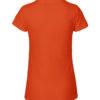 Oransje slightly fitted t-skjorte - 100 % økologisk bomull » Etiske & økologiske klær » Grønt Skift