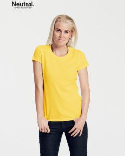 Gul slightly fitted t-skjorte - 100 % økologisk bomull » Etiske & økologiske klær » Grønt Skift