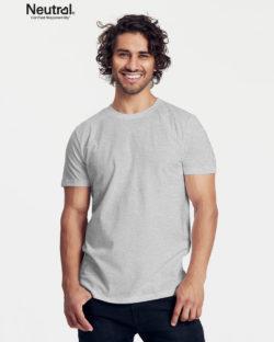 Lysegrå slightly fitted t-skjorte - 100 % økologisk bomull » Etiske & økologiske klær » Grønt Skift