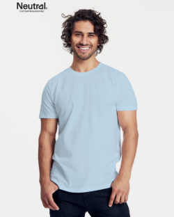 Lyseblå slightly fitted t-skjorte - 100 % økologisk bomull » Etiske & økologiske klær » Grønt Skift