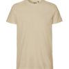 Beige slightly fitted t-skjorte - 100 % økologisk bomull » Etiske & økologiske klær » Grønt Skift