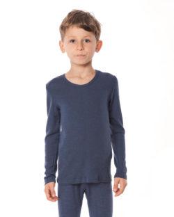 Blå langermet trøye i 70 % økologisk ull og 30% silke » Etiske & økologiske klær » Grønt Skift