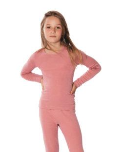 Rosa langermet trøye i 70 % økologisk ull og 30% silke » Etiske & økologiske klær » Grønt Skift