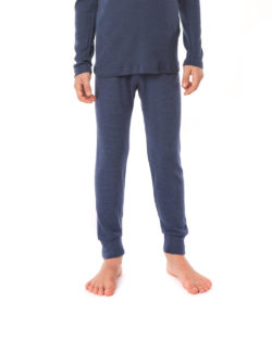 Blå stillongs i 70 % økologisk ull og 30% silke » Etiske & økologiske klær » Grønt Skift