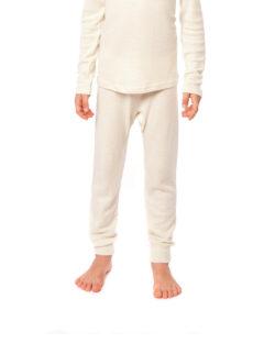 Hvit stillongs i 70 % økologisk ull og 30% silke » Etiske & økologiske klær » Grønt Skift