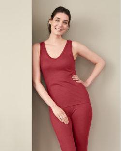 Rød singlet i 70 % økologisk ull og 30 % silke » Etiske & økologiske klær » Grønt Skift