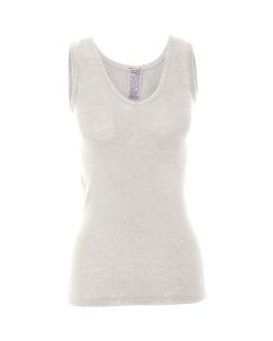 Hvit singlet i 70 % økologisk ull og 30 % silke » Etiske & økologiske klær » Grønt Skift