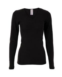 Svart langermet trøye i 70 % økologisk ull og 30 % silke » Etiske & økologiske klær » Grønt Skift