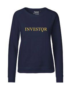 Investor mørkeblå dame collegegenser - 100 % økologisk bomull » Etiske & økologiske klær » Grønt Skift